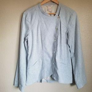 sundance catalog pinstripe linen blend blazer 10